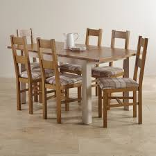 Oak Dining Tables And Chairs Kemble Rustic Solid Oak And Painted 4ft 7