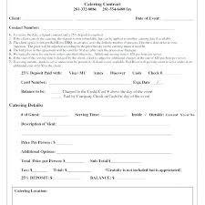 Catering Contract Samples Catering Agreement Template