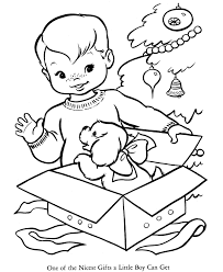 Small Picture Christmas present coloring page