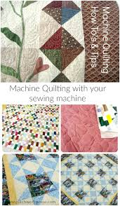 Machine Quilting with your standard Sewing Machine {Quick Tips ... & How to quilt with a sewing machine. great tips that will help when I am Adamdwight.com