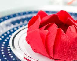 Paper Napkin Folding Flower Lotus Flower Paper Napkin Fold Ritzy Parties