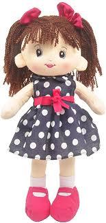 Amazon.com: Linzy Toys, 16'' Betty Soft Plush Rag Doll with Polka ...
