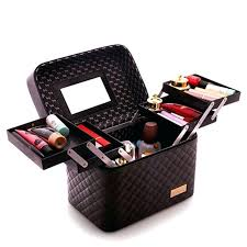 decoration multi layer storage travel case cosmetic makeup organizer bag box india