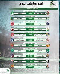 أهم مباريات اليوم الثلاثاء 22-12-2020 والقنوات الناقلة - التيار الاخضر