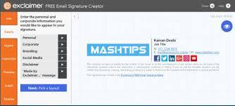 How To Create Html Signature In Gmail Mashtips