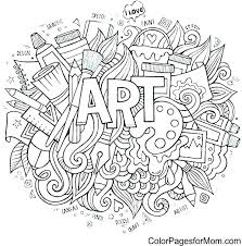 art therapy coloring sheets artist page free printable pages pop famous works of pdf