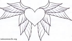 coloring pages of hearts with wings and roses heart tattoo ideas and heart tattoo designs
