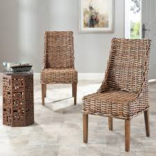 indoor wicker chairs. Wonderful Wicker Safavieh Rural Woven Dining St Thomas Indoor Wicker Brown Sloping Arm Chairs  Set Of 2 With O