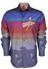 Details About New Robert Graham 398 Ltd Edition Sheen Pinup Girl Sharks Sports Dress Shirt
