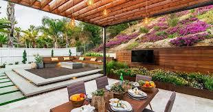 this backyard landscape design has