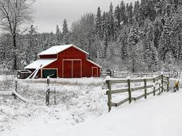 Best 41+ Red Barn in Snow Wallpaper on ...
