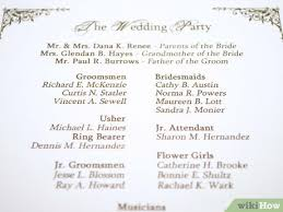 Wedding Ceremony Brochure How To Make A Personal Wedding Ceremony Booklet 11 Steps