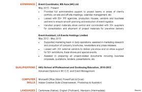 Event Management Job Description Resume Extraordinary Project Coordinator Resume Sample Cv With Example It 35