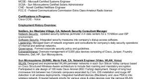 Cyber Security Engineer Resume Network Security Engineer Resume