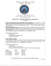 employment opportunities wichita and affiliated tribes application one two