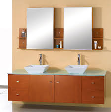 Bahtroom Pastel Wall Paint For Nice Bathroom With White Sink Under ...