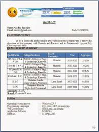 Resume Sample Pdf India Fresherresumeformat Amazing Resume Examples ...