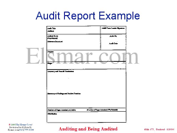 Template Audit Report Audit Report Example