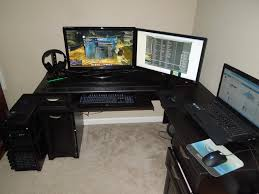 home office gaming computer. Gaming L Desk Shaped Style Thediapercake Home Trend Office Computer
