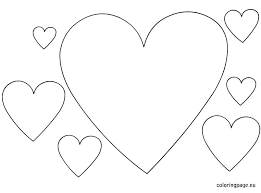 Printable Heart Coloring Pages Heart Coloring Page Coloring Pages