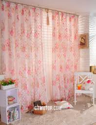 Pink Bedroom Curtains Pink Floral Polka Dots Dreamy Romantic Bedroom Curtains