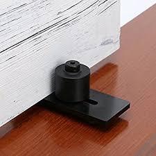 smartstandard sdhacc03 sliding barn door bottom adjule floor guide roller black super smoothly and