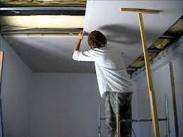 how to put a plasterboard ceiling up on