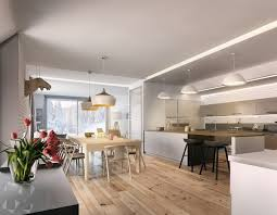 Smooth Coco Flip pendants cast light on the wooden dining set. Note the  flat-pack moose head to the left  so perfect!