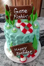 Gone Fishing Cake Small Cakes Carrott Cake Cream Cheese Frosting