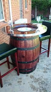 Diy bistro table Reclaimed Industrial Half Barrel Table We Bistro Set Kitchen Ridleysorg Half Barrel Table We Bistro Set Kitchen Borse