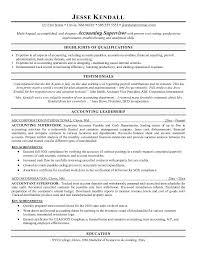 free accounting supervisor resume example supervisor resume sample