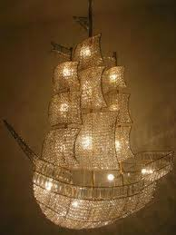 Love this Peter Pan pirate ship chandelier!