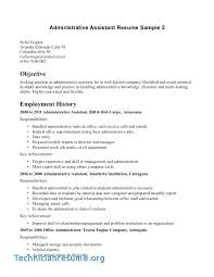 Objective Statement For Administrative Assistant Resume Objective For Medical Assistant Resume A Good Objective For
