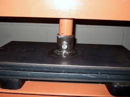 tightened with hydraulic pressure between plates