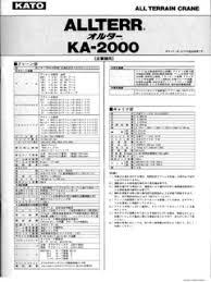 Load Chart Crane 25 Ton Kato Kato Specifications Cranemarket