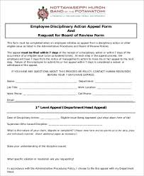 7+ Sample Employee Disciplinary Action Forms | Sample Templates