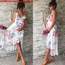 Maternity Pants Size Chart Us 6 92 45 Off Maternity Dresses Maternity Clothes Pregnancy Dress Pregnant Dress Casual Floral Falbala Pregnants Dress Comfortable Sundress In