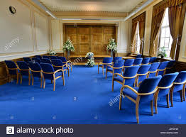 wedding room at barnsley town hall south yorkshire uk