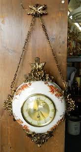 antique 8 day hanging hand painted