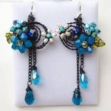 aquamarine blue chandelier earrings light blue jewellery unique boho earrings bohemian earrings aquamarine jewellery something blue
