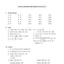 Soal matematika kelas 1 sd bab 8 bangun datar sederhana dan kunci jawaban. Soal Dan Jawaban Matematika Kelas 6
