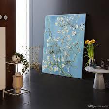 Modern Art Bedroom 2017 A Van Gogh Apricot Flower Painting Modern Wall Oil Art