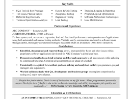 Sample Resume For Entry Level Software Tester Valid Resume Templates