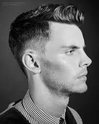 Hairstyles For Men To The Side Neat Mens Hairstyle With Super Short Shaven Sides And Long Top Hair