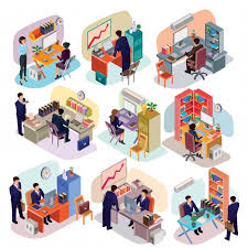 suits office. Exellent Office Set Of Isometric People In Business Suits The Office Free Vector To Suits Office