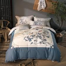 bed blanket sets cotton soft bed linen set peacock print bedding sets king queen size duvet bed blanket sets
