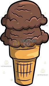 3 scoop ice cream cone clip art. Plain Clip Scoops Of Chocolate Ice Cream In A Cone 3 Scoop Clip Art