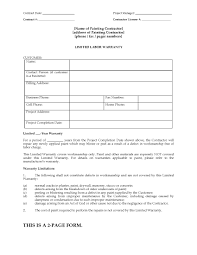 Painting Limited Warranty Certificate Form | Legal Forms And ...