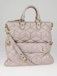 Miu Miu Pale Pink Quilted Leather Tote Bag - Yoogi's Closet & Miu Miu Pale Pink Quilted Leather Tote Bag Adamdwight.com