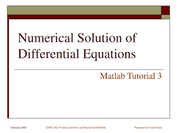 numerical solution of diffeial equations matlab tutorial 3
